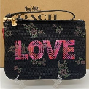 COACH GALLERY POUCH WITH JASON NAYLOR GRAPHIC